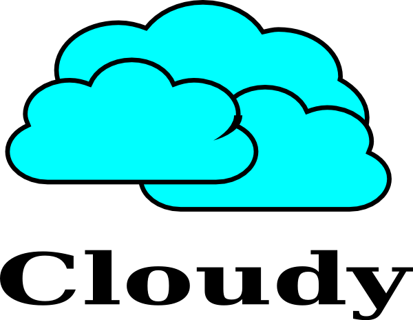 cloudy clipart s cloudy
