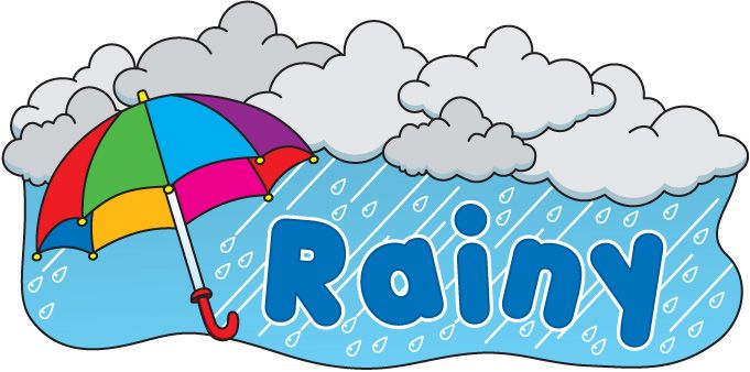 Rainy clipart weather word. Best images on