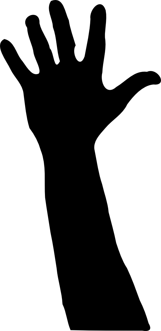 black and white hands png