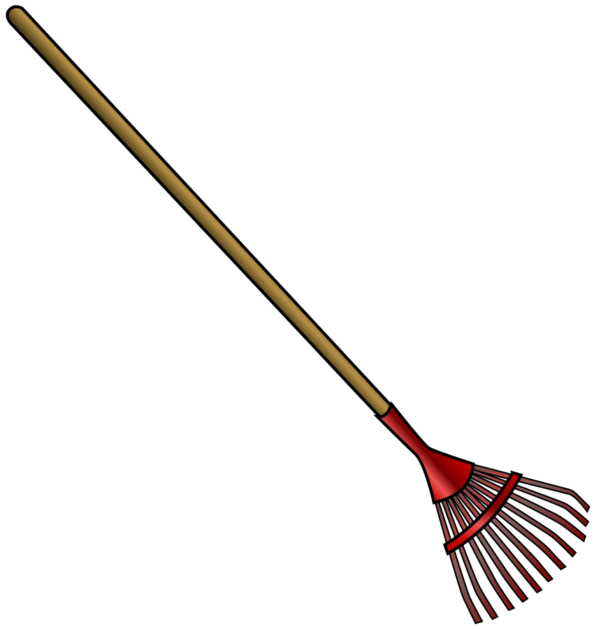 Rake clipart broom. Free