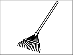 Rake clipart broom. Clip art basic words
