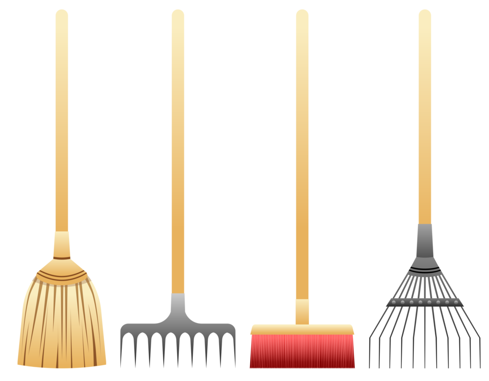 Rake clipart garden rake. Broom gardening forks cleaning
