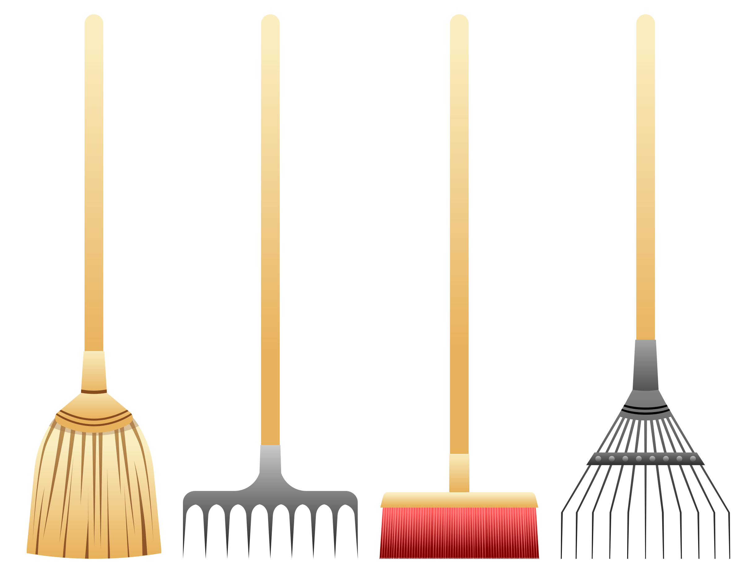 Rake clipart broom. Brooms and rakes big
