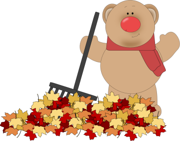 Rake clipart fallen leave. Falling leaves pencil and