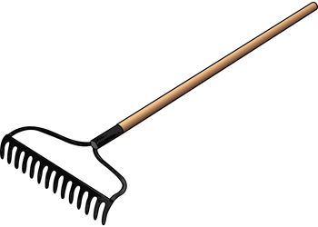 Rake clipart. Art activities