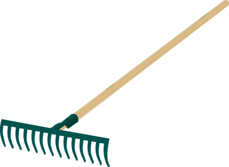 Trowel vector crossed. Rake gardening forks drawing