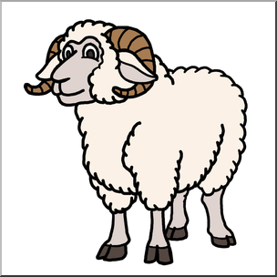 Sheep clipart colored sheep. Clip art cartoon ram