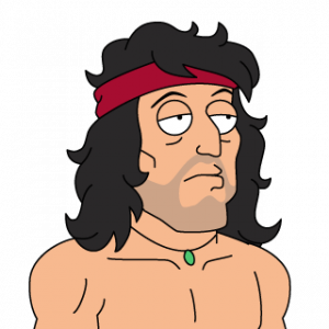 Rambo drawing. Transparent png file web