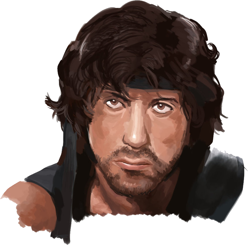 Rambo drawing face. Png images free download