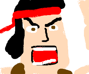 Rambo drawing. Badass by codynamic drawception