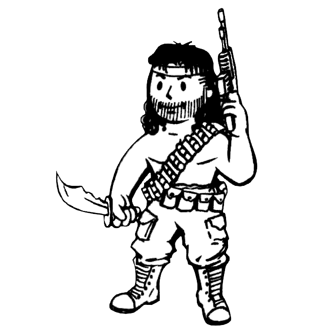 Rambo drawing. Survivalist fallout wiki fandom