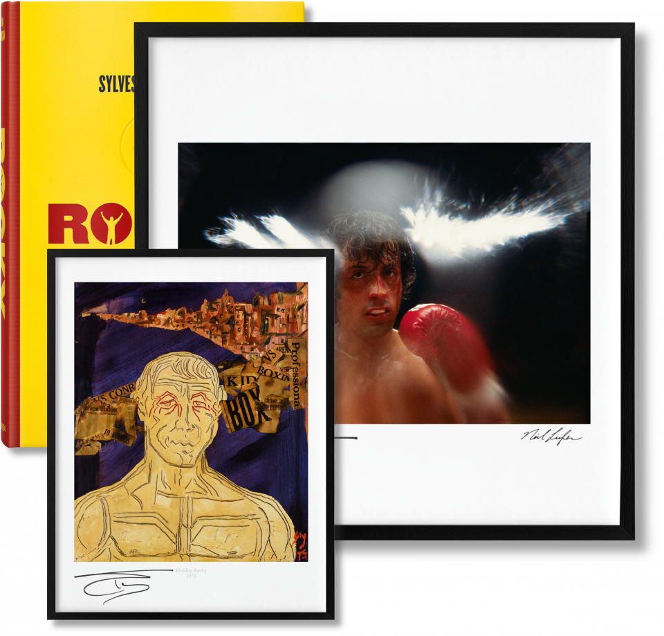 The complete films art. Rocky drawing original vector royalty free stock