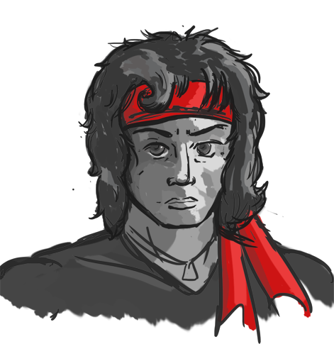 Rambo drawing. I can stop the