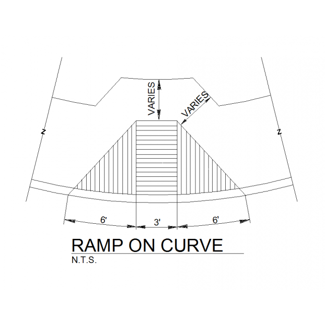 Ramp drawing. D cad on