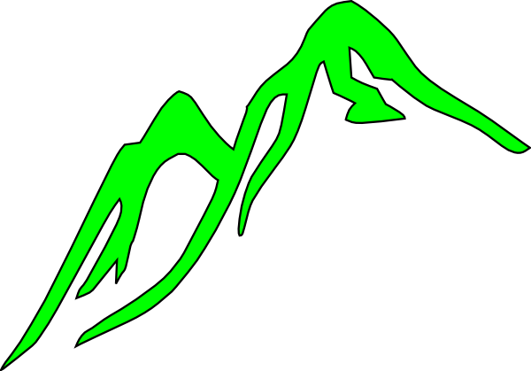 Vector hills art. Mountain black and white