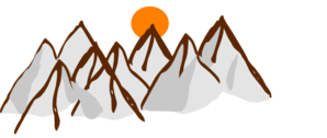 Panda free images mountainrangeclipart. Range clipart snow capped mountain image transparent library