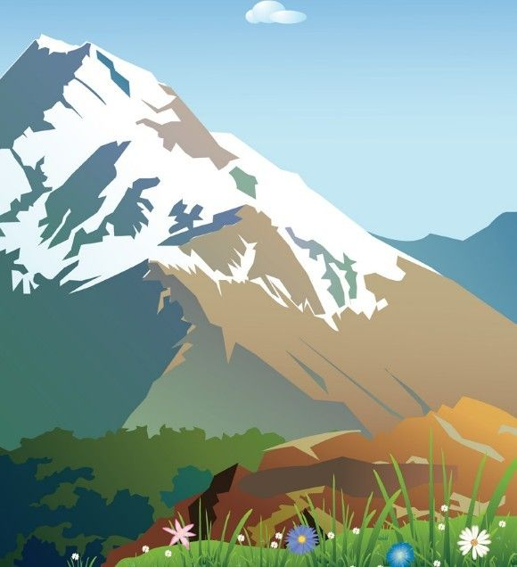 Drawing at getdrawings com. Range clipart snow capped mountain picture royalty free download