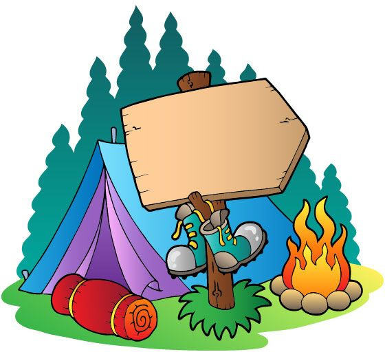 Cartoon clipart camping. Banner of kids home