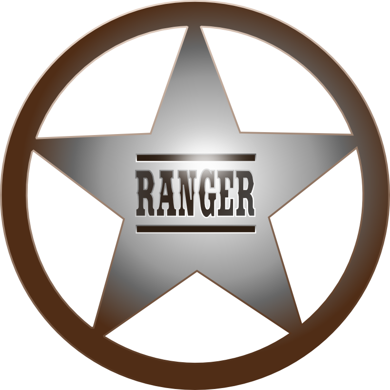 Rangers clipart decal. Texas ranger star metal