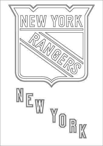 Rangers clipart new york rangers. Logo coloring page free