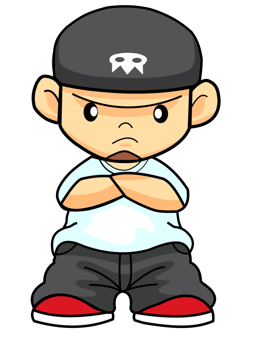 Rapper vector animated. Hip hop clipart image