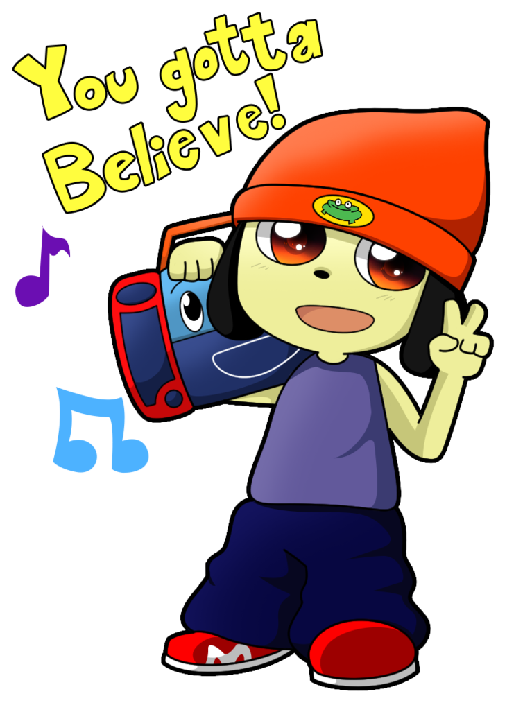 Rapper vector drawing. Parappa the by anto
