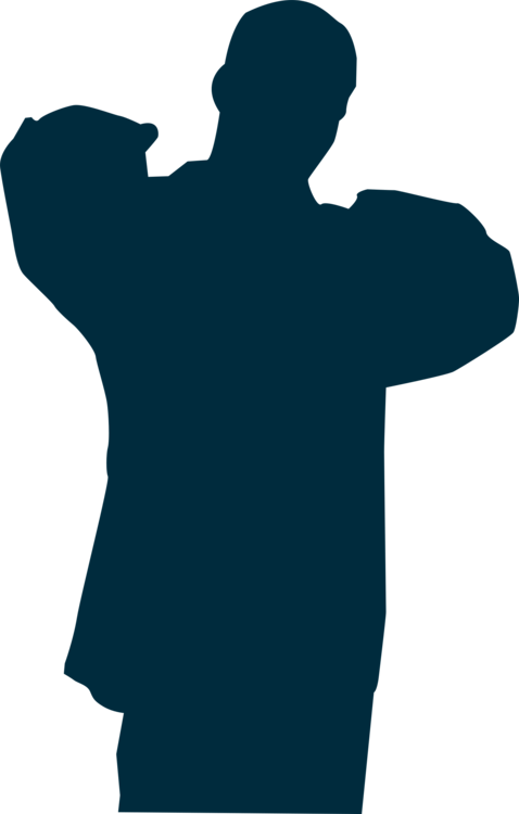 Rapper vector silhouette. Male boy computer icons