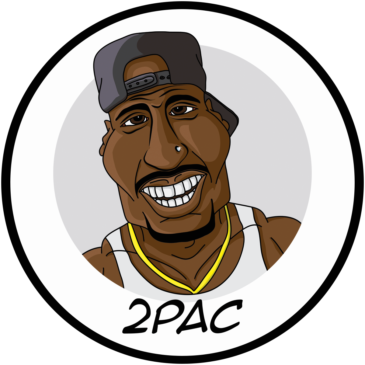Rapper vector snoop. Pac illustration caricature