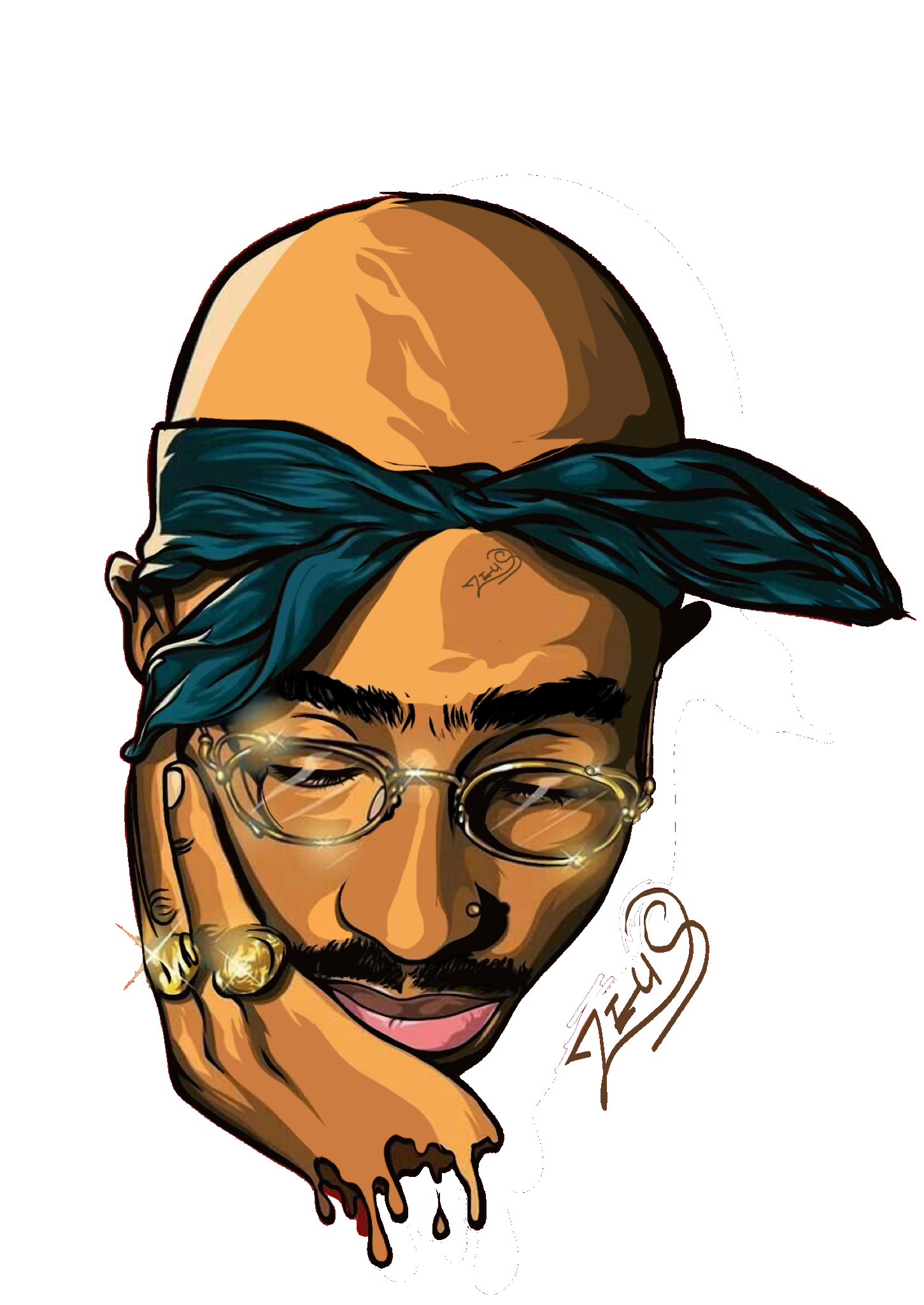 2pac transparent animated