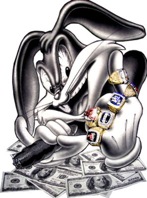 Rappers drawing bugs bunny. Steelers my man of