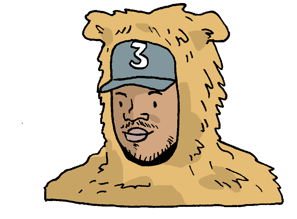 Rappers drawing cartoon. Chano for mayor a