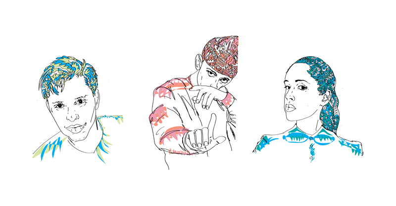 Rappers drawing collage. Learn more about the