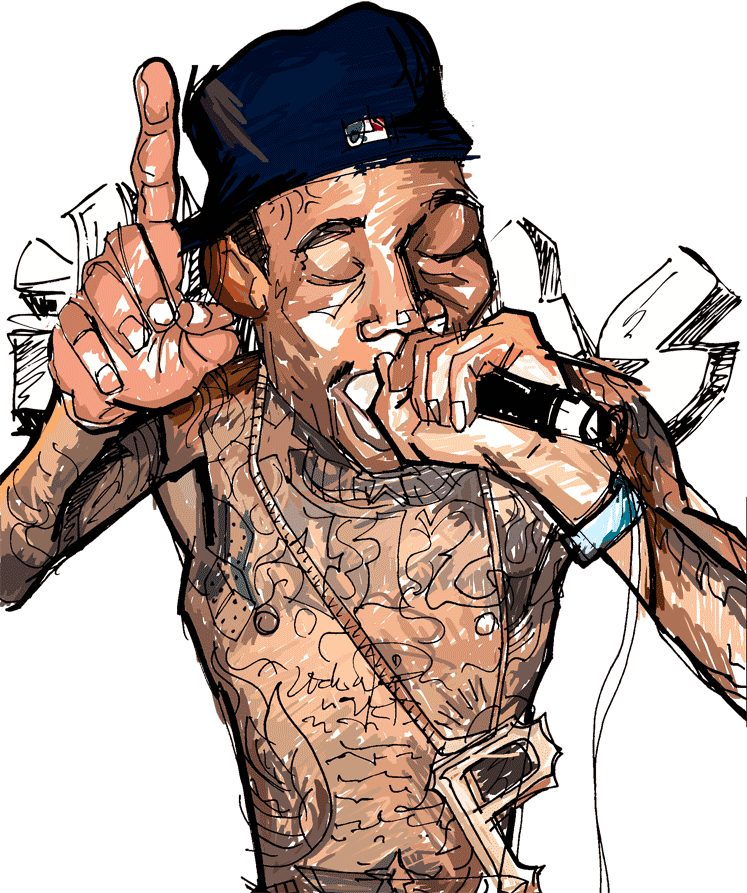 Rappers drawing wallpaper. Wiz khalifa rolling papers