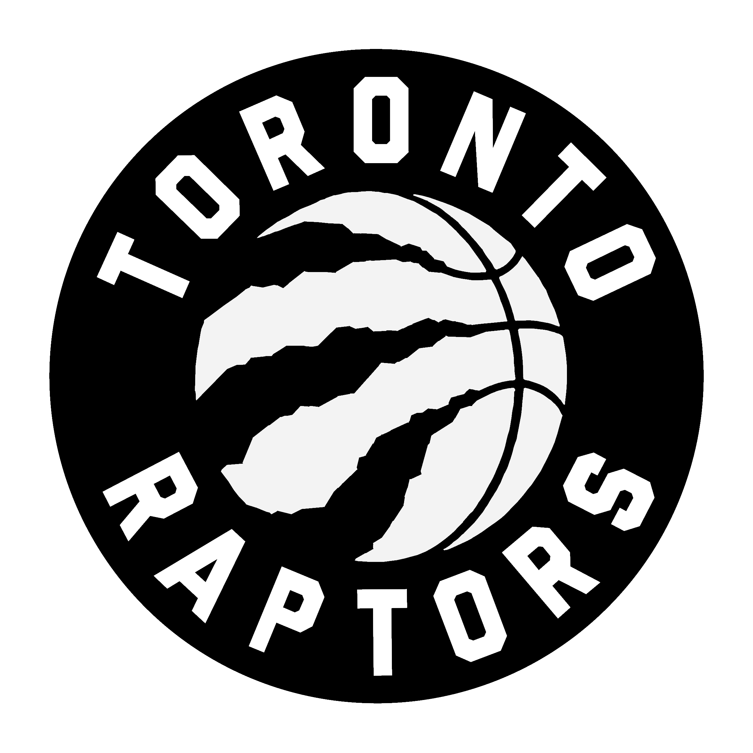 Raptor vector black and white. Toronto raptors logo png
