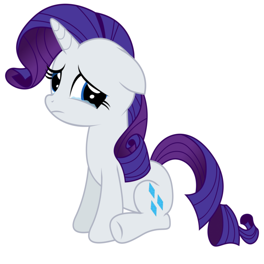 Drawing ponies sad. Rarity by coltsteelstallion on