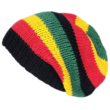 Transparent stickpng. Rasta hat with dreads png svg stock