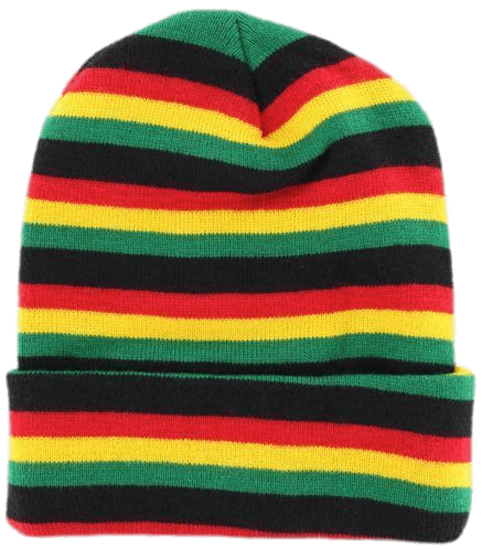 Beanie transparent stickpng clothes. Rasta hat with dreads png image black and white download