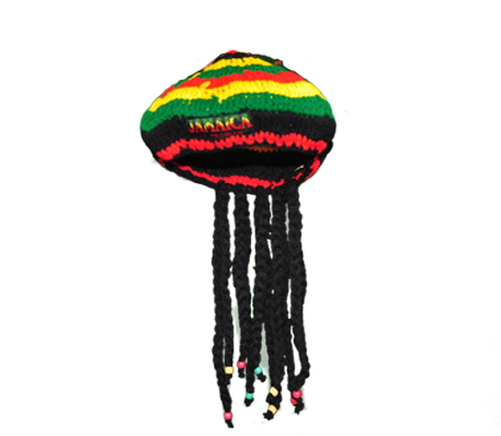 rasta hat with dreads png