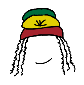 Rasta hat with dreads png. How to draw a