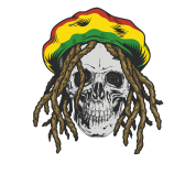 Man rastafarian flag colors. Rasta hat with dreads png png freeuse stock