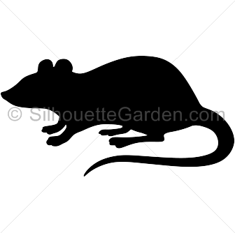 Rat silhouette png.