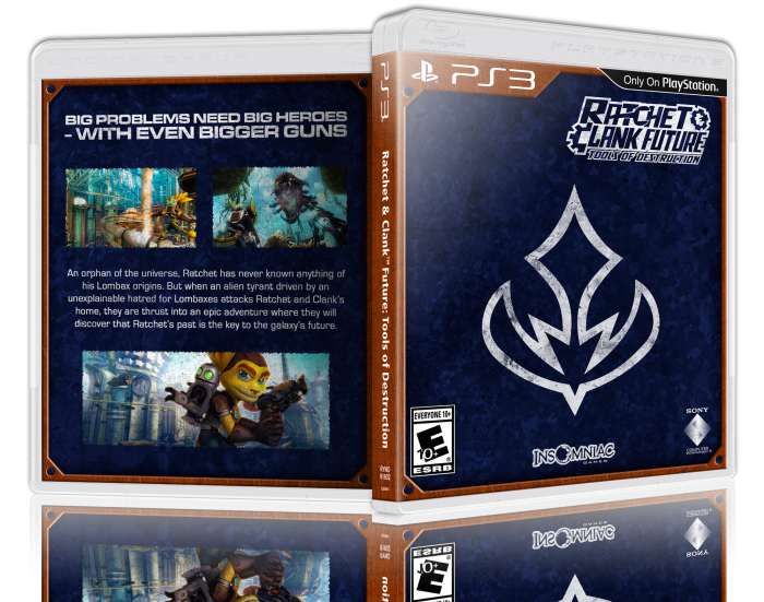 Ratchet and clank future tools of destruction ratchet png. Playstation box art cover