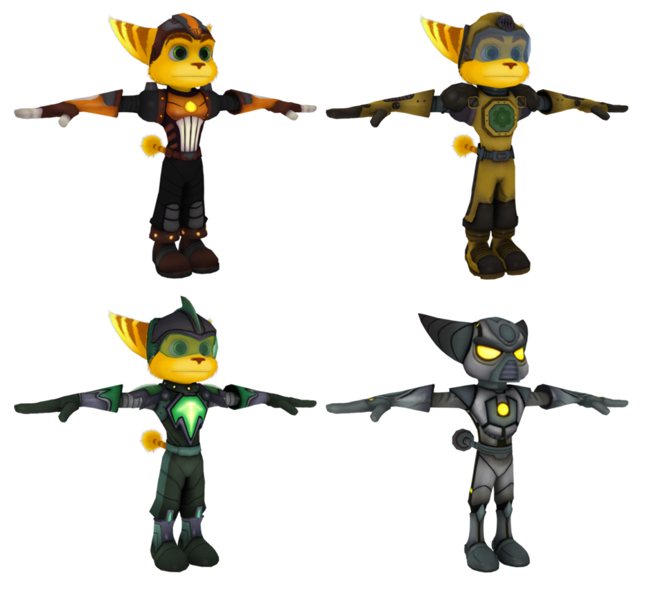 Ratchet and clank future tools of destruction ratchet png. Tod armor pack by