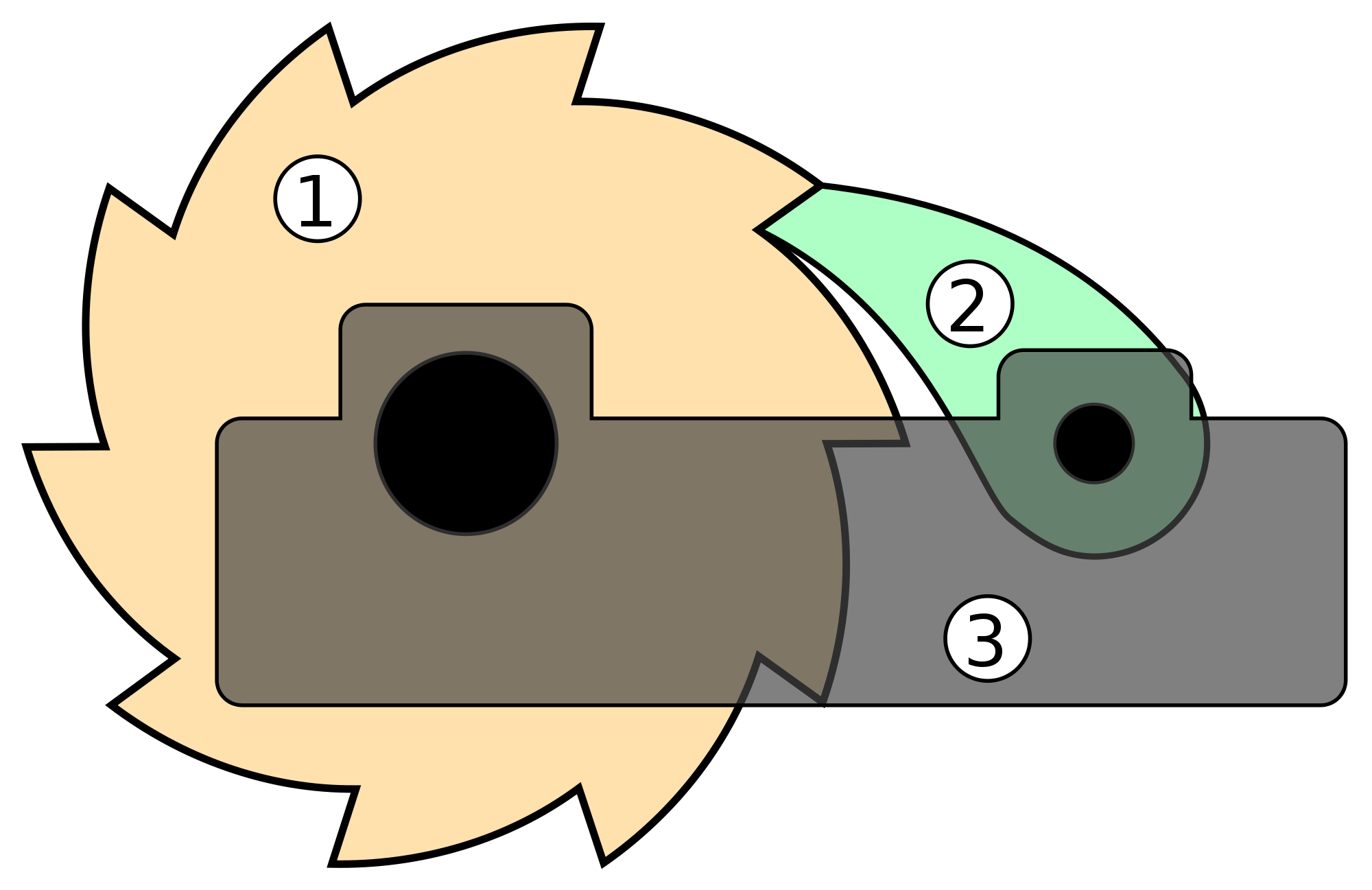 Ratchet drawing. File svg wikimedia commons
