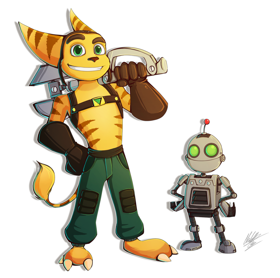 Ratchet drawing. And clank speedpaint by