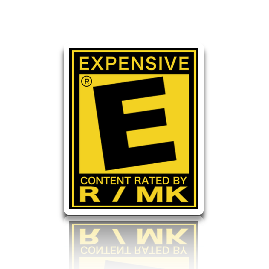 Rated r label png. Hobby rating sticker