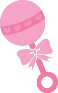 Rattle clipart baby pin. Cliparts pink