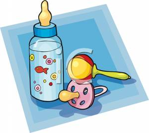 Rattle clipart baby soother. A pink pacifier with