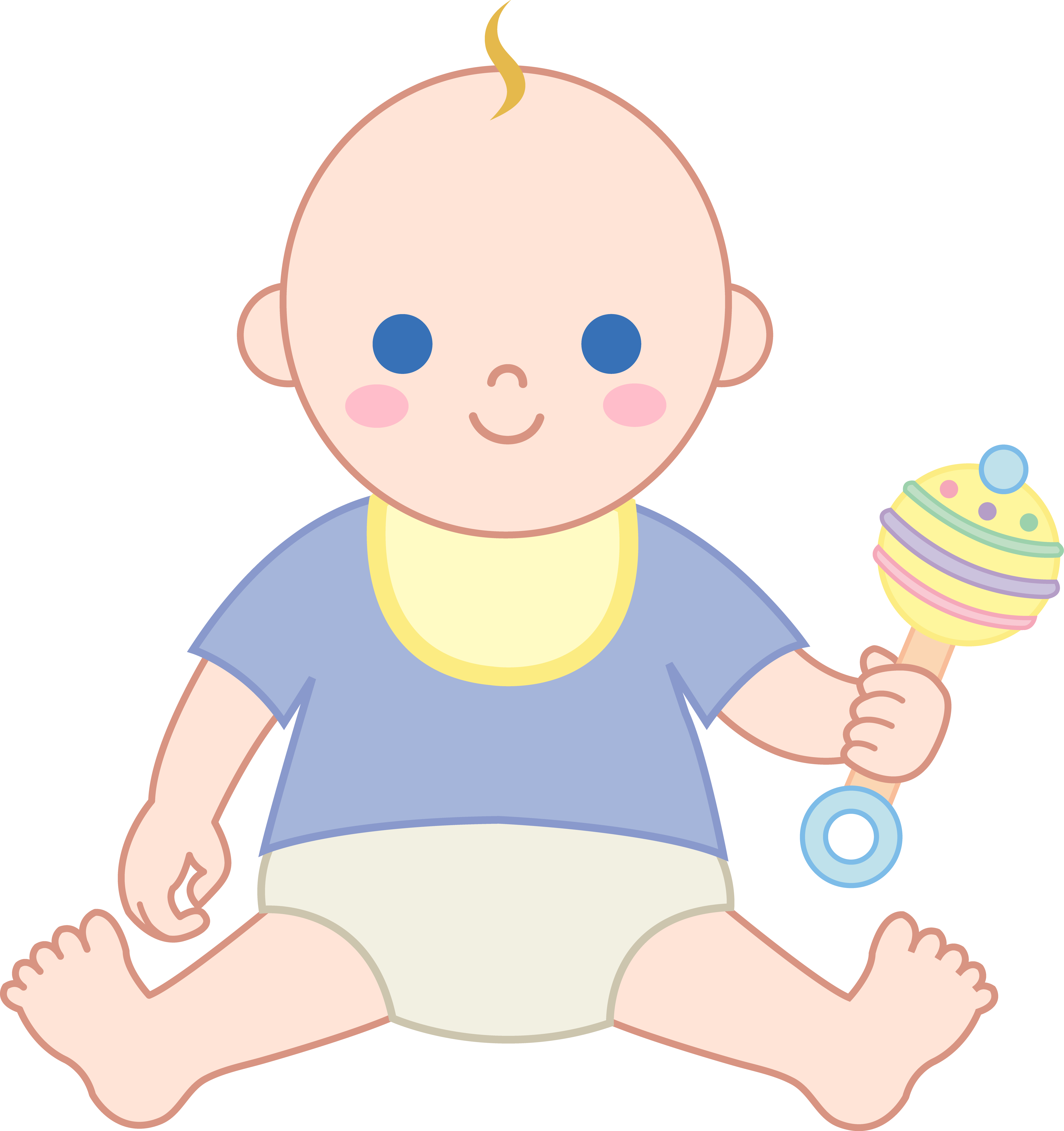 Rattle clipart drawing baby. Boy with free clip