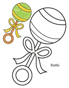 rattle clipart drawing baby